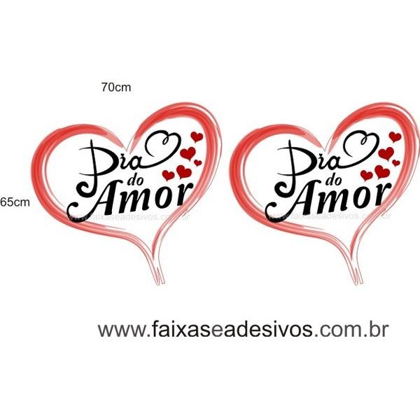 Adesivo Dia do Amor 70 x 65cm 2 peças  - Fac Signs