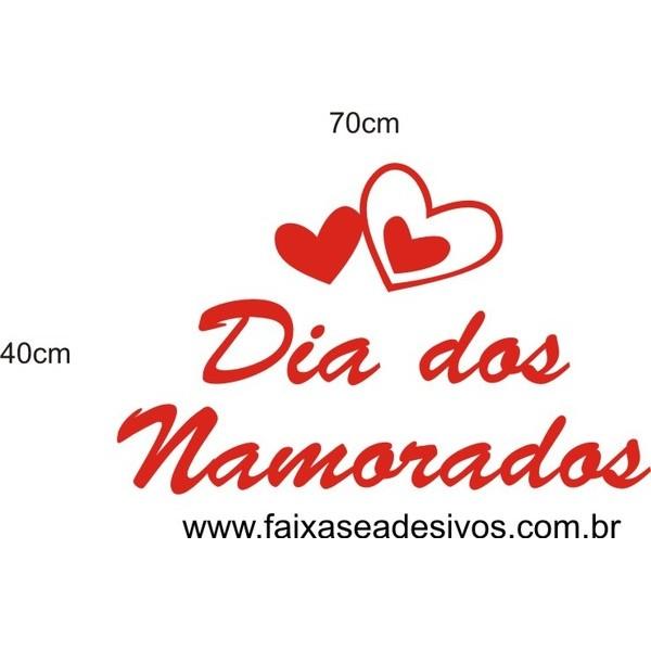 Adesivo Dia dos Namorados Simples 70 x 40cm  - Fac Signs