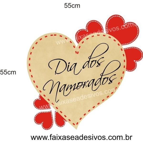 Adesivo Coração da Sorte 55 x 55cm  - Fac Signs