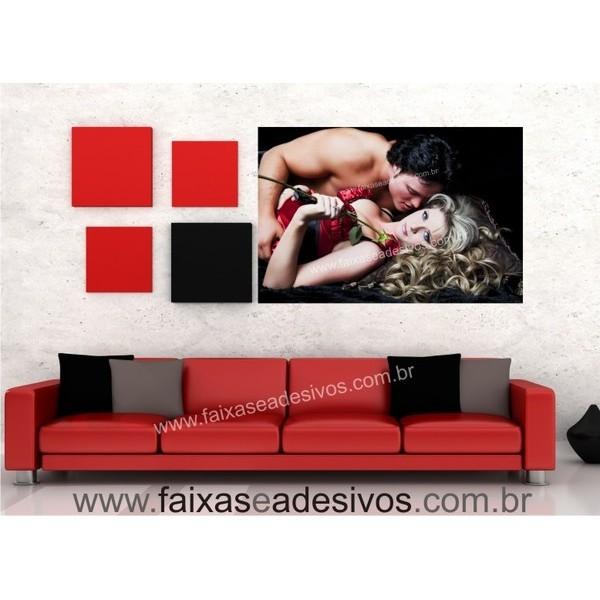 Paixão Adesivo Decorativo de parede 1,00 x 0,70m - Sua foto ou nossa foto  - Fac Signs