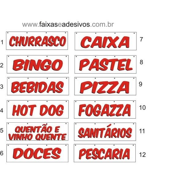 Faixa Barracas de Festa Junina 1,00 x 0,35m  - Fac Signs