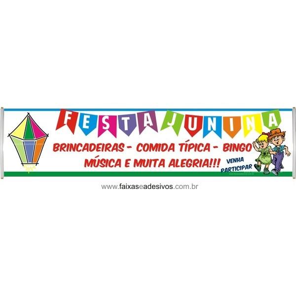 Faixa Balão Festa Junina 3,00 x 0,70m  - Fac Signs