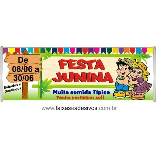 Faixa Caipira Festa Junina 2,00 x 0,70m  - FAC Signs Impressão Digital