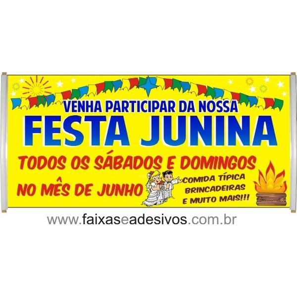 Faixa Fogueira Festa Junina  - 200x70cm  - Fac Signs