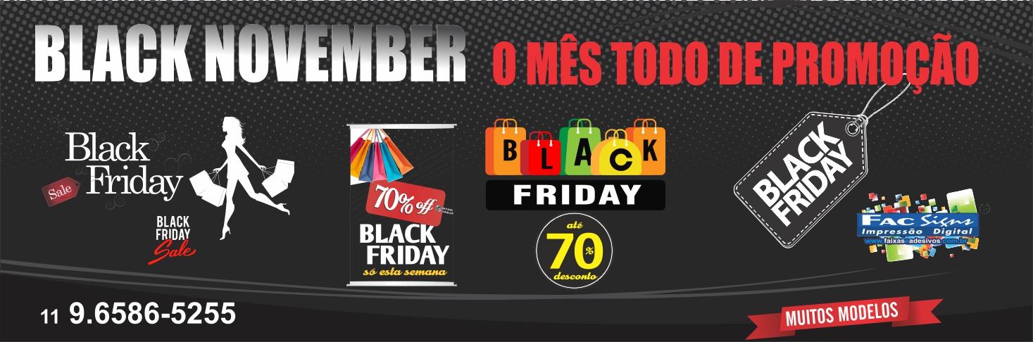 Black Friday adesivos e faixas
