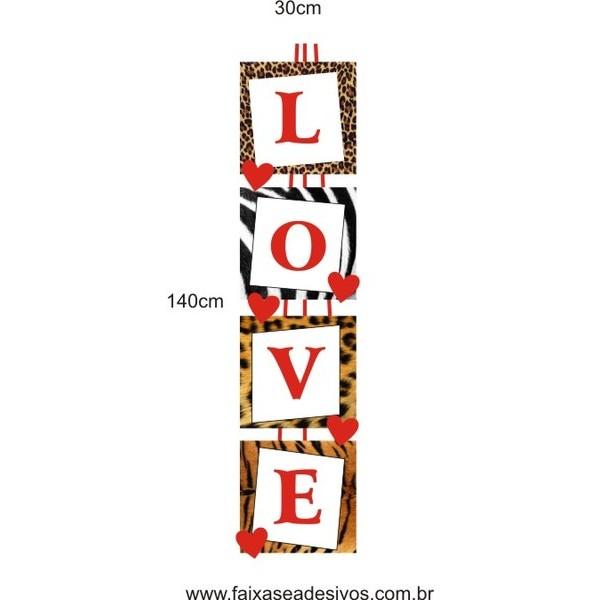 Adesivo Love Chic 1,40 x 0,30m  - Fac Signs