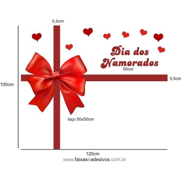 Adesivo Laço dos Namorados 1,00 x 1,20m  - Fac Signs
