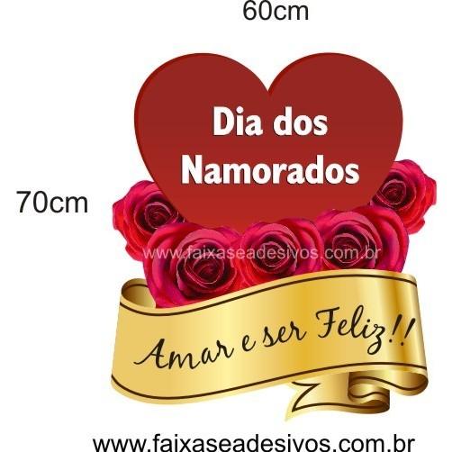 Adesivo Coração com Rosas 70 x 60cm  - Fac Signs