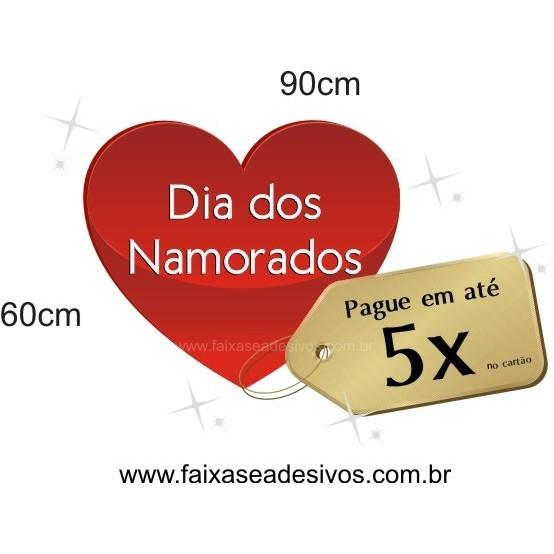 Adesivo Coração com TAG 90 x 60cm  - Fac Signs