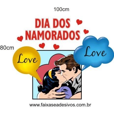Adesivo História de Amor 1,00 x 0,80m  - Fac Signs