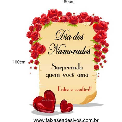 Adesivo Pergaminho do Amor  - FAC Signs Impressão Digital