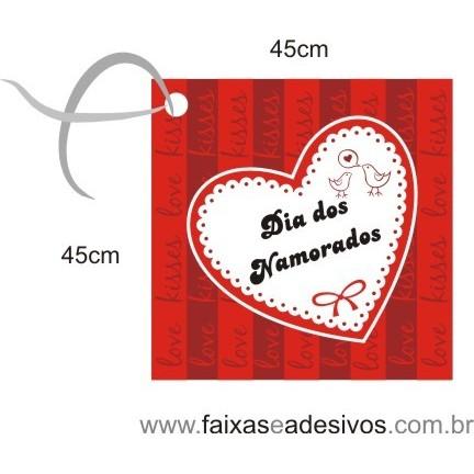 Adesivo Tag Amor Pombinhos 45 x 45cm  - Fac Signs