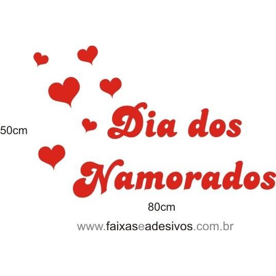 Adesivo Dia dos Namorados Tradicional 80 x 50cm  - Fac Signs