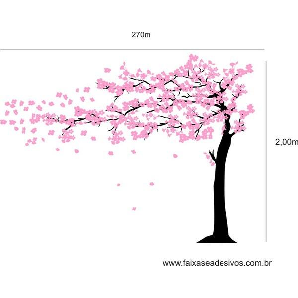 006 - Arvore Adesivo Decorativo Cerejeira  2,70 x 2,00m  - Fac Signs