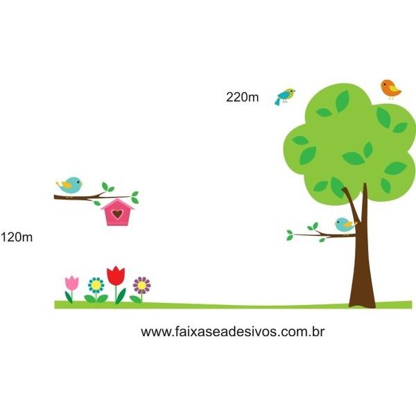 019 - Arvore Delicata Casa de Passarinhos Q1 2,20 x 1,20m  - Fac Signs