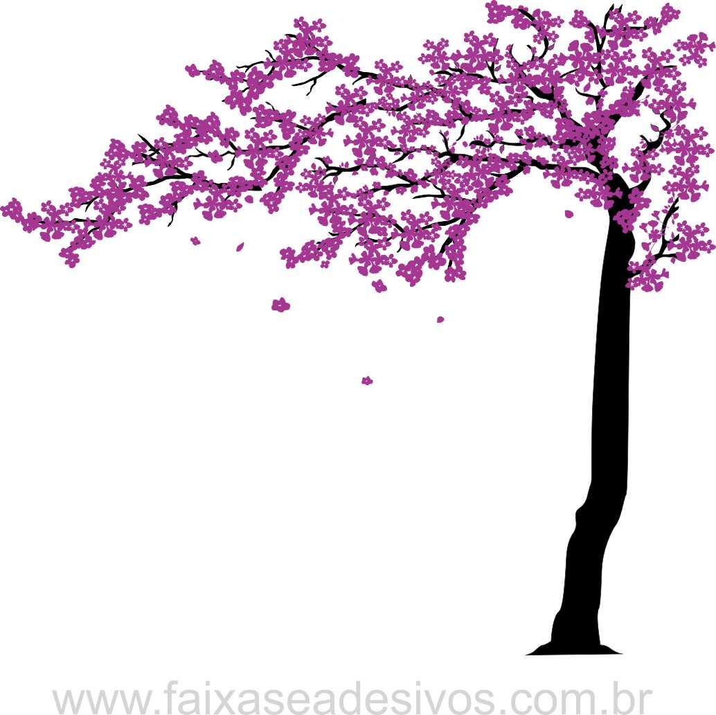 0101 - Arvore Adesivo Decorativo - Cerejeira Sedução - Novos tamanhos escolha!  - FAC Signs Impressão Digital