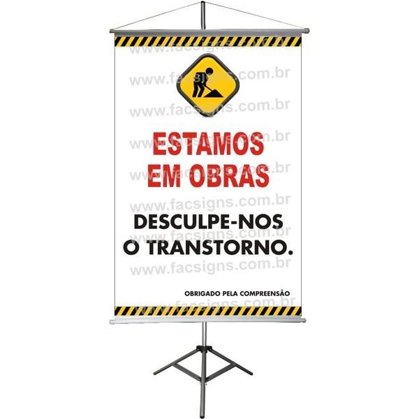 Banner Informativo (Reforma Temporária) 003B  - FAC Signs Impressão Digital
