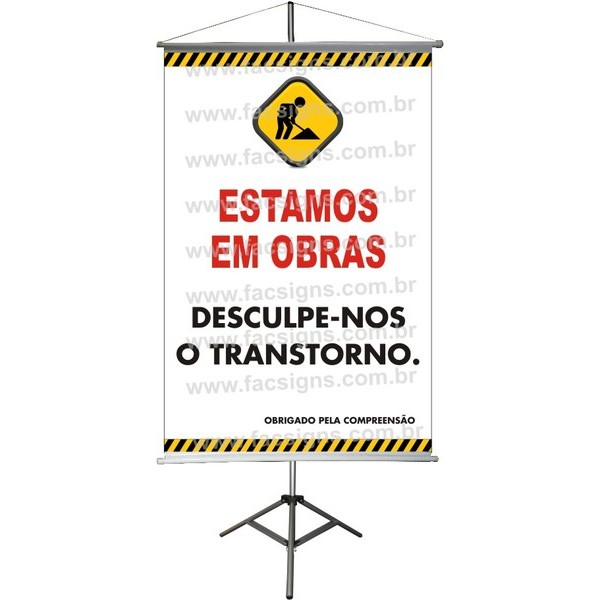 Banner Informativo (Reforma Temporária) 003B  - Fac Signs