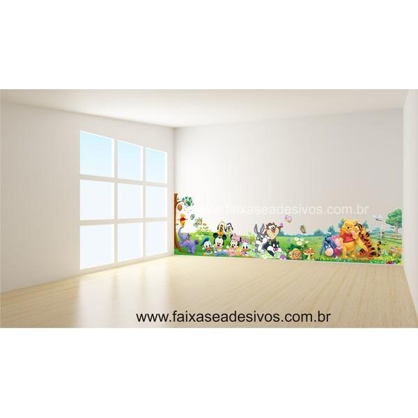 Infantil Adesivo Decorativo Brinquedoteca 2,20 x 0,60m  - Fac Signs