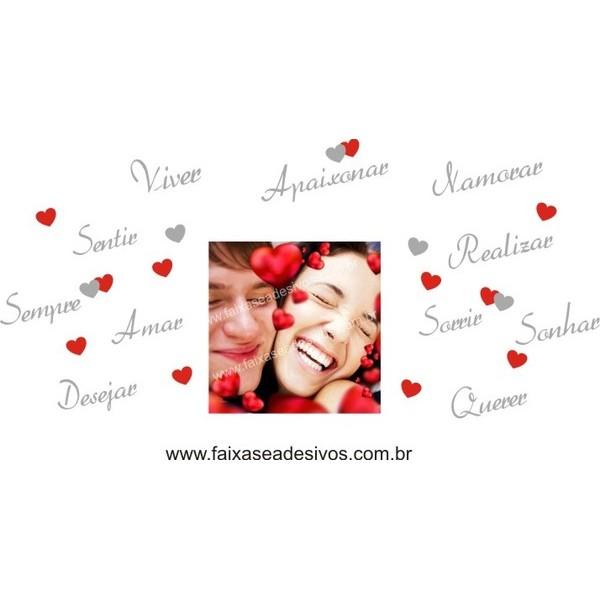 Adesivo Dia dos Namorados Texto com Foto   - Fac Signs