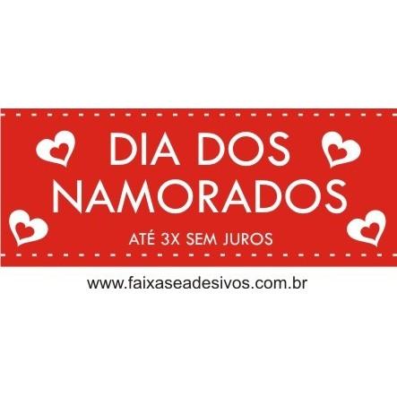 Adesivo Dia dos Namorados Translucido 1,20 x 0,50m  - Fac Signs