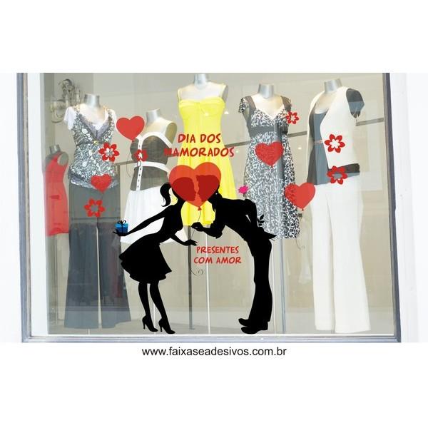 Adesivo Beijo Escondido dos Namorados 1,20 x 1,10m  - Fac Signs