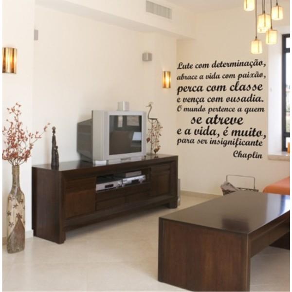 Texto Adesivo Decorativo de Parede 001 - Chaplin 80x80cm  - FAC Signs Impressão Digital