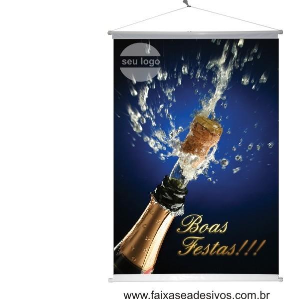 Banner Boas Festas Champagne (BFC2014)  - Fac Signs
