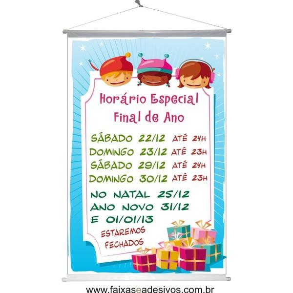 Banner de Horário de Natal (HN2014)  - Fac Signs