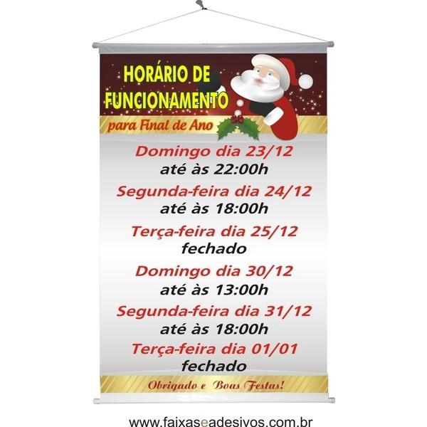 Banner Horário Especial de Natal (HEN2014)  - Fac Signs