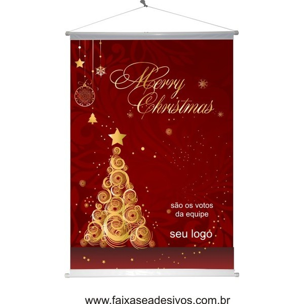 Banner Natal Arvore Dourada (NAD2014)  - Fac Signs