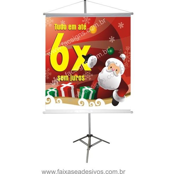 Banner Papai Noel 6x (PN6_2014)  - Fac Signs