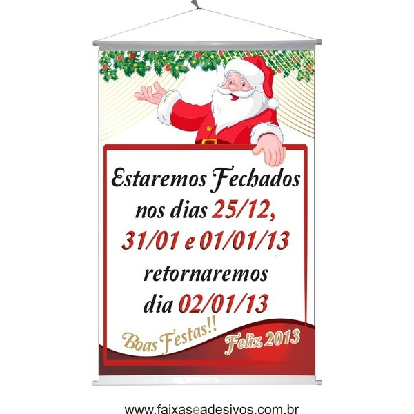 Banner Horário de Natal (BHN2014)  - Fac Signs