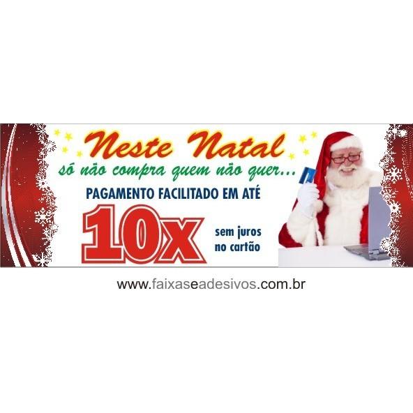 Lona de Natal 10x sem juros 2,00 x 0,70m  - Fac Signs