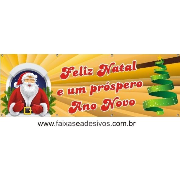 Lona com ilhós Papai Noel na Janela 2,20 x 0,70m  - Fac Signs