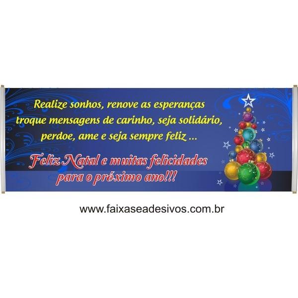 Faixa Arvore Bolas de Natal 2,50 x 0,70m  - Fac Signs