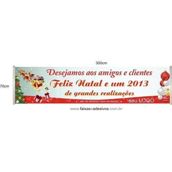 Faixa Empresa Feliz Natal 3,00 x 0,70m  - Fac Signs