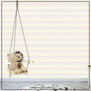008 - Adesivo Decorativo de parede Chevron Amarelo e cinza - 58cm larg