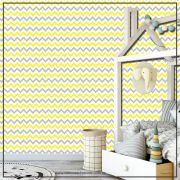 013 - Adesivo Decorativo de parede Chevron amarelo - 58cm larg