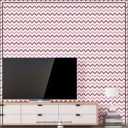 014 - Adesivo Decorativo de parede Chevron Marsalia - 58cm larg