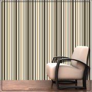 018 - Adesivo Decorativo de parede Listras ocre - 58cm larg