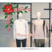 0193 - Adesivo Natal Candice Cantoneira