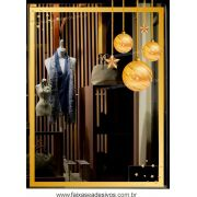 0199 - Adesivo Moldura Vitrine Dourada