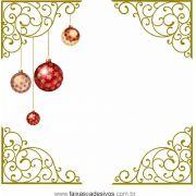 0200 - Adesivo Cantoneira de Natal Ornamental