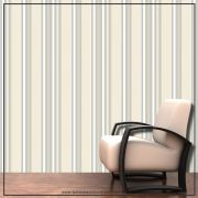 020 - Adesivo Decorativo de parede Listras pastel e cinza - 58cm larg