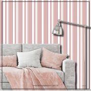 026 - Adesivo Decorativo de parede Listras larga rosa - 58cm larg