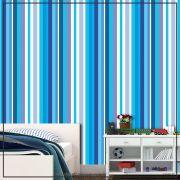 029 - Adesivo Decorativo de parede Listras azul forte - 58cm larg