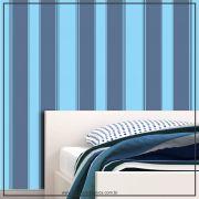 030 - Adesivo Decorativo de parede Listras azul 2 tons - 58cm larg
