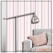 031 - Adesivo Decorativo de parede Listras finas rosa - 58cm larg