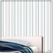 032 - Adesivo Decorativo de parede Listras delicadas cinza - 58cm larg